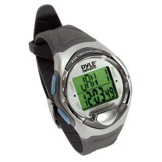 Pyle Sportuhr Fingertouch Herzfrequenz Kalender Alarm Chronograph Wasserfest Bild