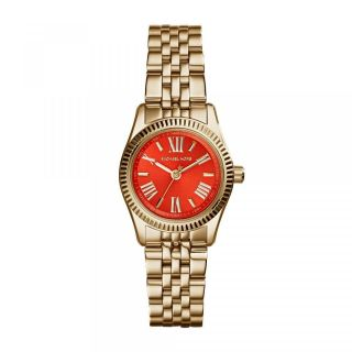 Michael Kors Mk3284 Damenuhr Vergoldet Armbanduhr Orange Small Bild