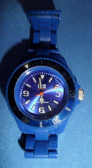 Ice - Watch Unisex - Armbanduhr Classic Solid Blau Cs.  Be.  S.  P.  10 Bild