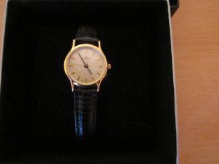 Dugena Uhr,  Armbanduhr Für Damen,  Rund,  Mit Schwarzem Lederarmband Bild