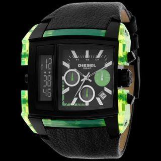 Diesel Dz7153 Armbanduhr Chrono Square Green Lime Dual Für Herren Und Jungen Bild