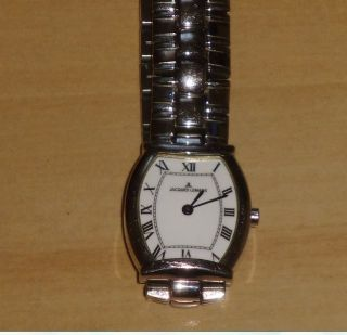 Jaques Lemans Uhr,  Stainless Steel,  Batterie,  Ovale Form,  Spangenverschl. ,  Damen Bild