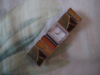 Damen - Armbanduhr Mit Zugarmband Modeschmuck Schmuckuhr Braun - Goldfarben Bild