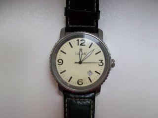 Hirsch Herren Quartz Armband - Uhr Stainless Steel Echt Leder Armband Klassisch Bild