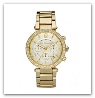 Michael Kors Mk5354 Damenuhr Armbanduhr Chronograph Edelstahl, Bild