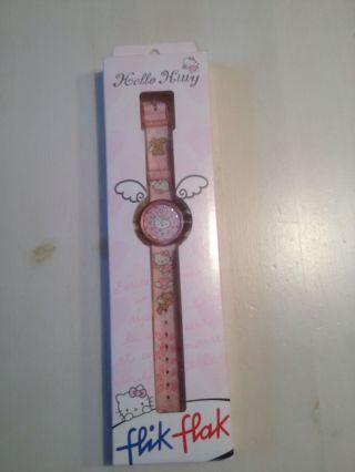 Armbanduhr Kinderuhr Uhr Von Hello Kitty Flik Flak Rosa Bild