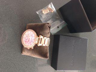 Michael Kors Damen Uhr Mk5491 Chronograph Edelstahl,  Rose Uvp 249€ Bild