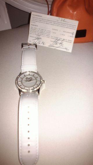 Uhr Dolce Gabbana D&g Damen Armbanduhr Weiß Silber Bild