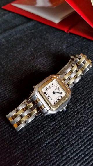 Uhr Cartier Panthere Bicolor,  Analog,  Damen Mit Zertifikat Bild