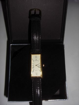 Junghans Avon Exclusiv Damen Armbanduhr Quarz 47/0526 Echtleder Elegant Ovp Bild