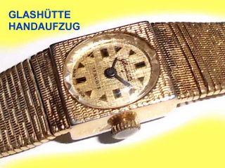 Alte Damenarmbanduhr Der Marke GlashÜtte,  Mechanisch,  Läuft Bild