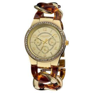 Damenarmbanduhr Akribos Ak562yg Quartz Multifunktl Kristallakzente Harzarmband Bild
