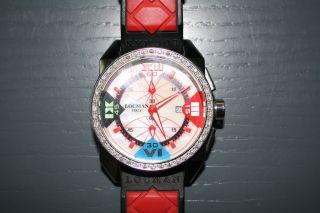 Seltene Locman Italy Cavallo Pazzo Diamond Chronograph Chrono Bild