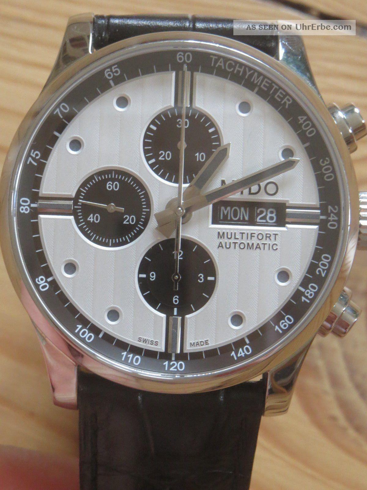 Mido Multifort Chronograph M 005.  614.  16.  031.  01 Armbanduhren Bild