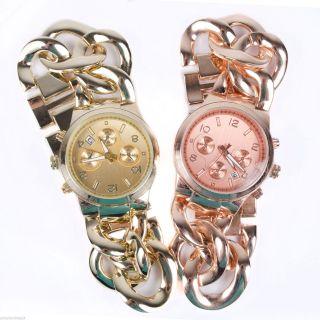 Luxus Edelstahl Uhr Armbanduhr Damenuhr Strass Rose Gold Silber Uhr05 Bild