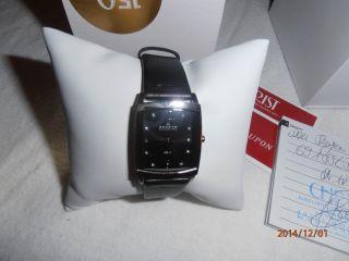 Skagen Damen Uhr Schwarz Leder Armband Edelstahl GehÄuse Mineral Glas 691sslb Bild