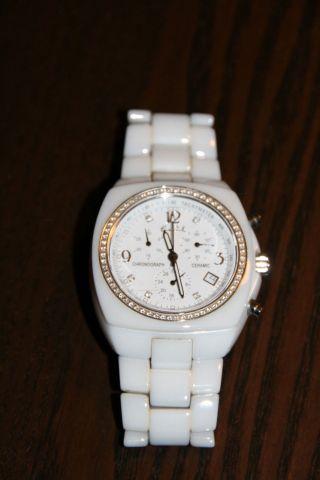 Erwin Pearl,  Armbanduhr,  Watch,  Ceramic,  Weiß Bild