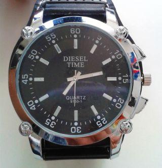 Diesel Time Herren Damen Unisex Armbanduhr Schwarz Bild