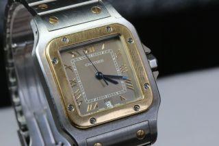 Cartier Santos,  Herrenmodell Medium,  Quartzwerk,  Stahlgold Avs2702 Dif Rwt1 Bild