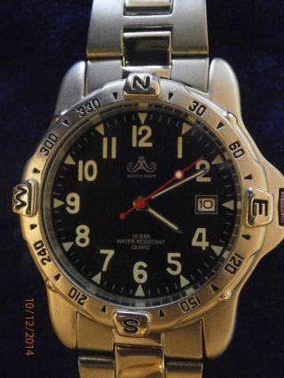 Herren - Armbanduhr Von Meister Anker Hau Armbanduhr Quarz Stainless Steel Back Bild