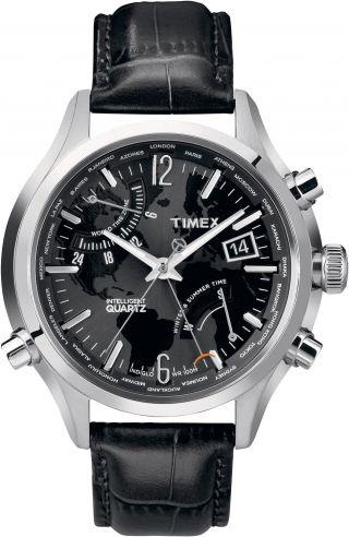 Timex Iq Weltzeit Herren Uhr T2n943 Bild