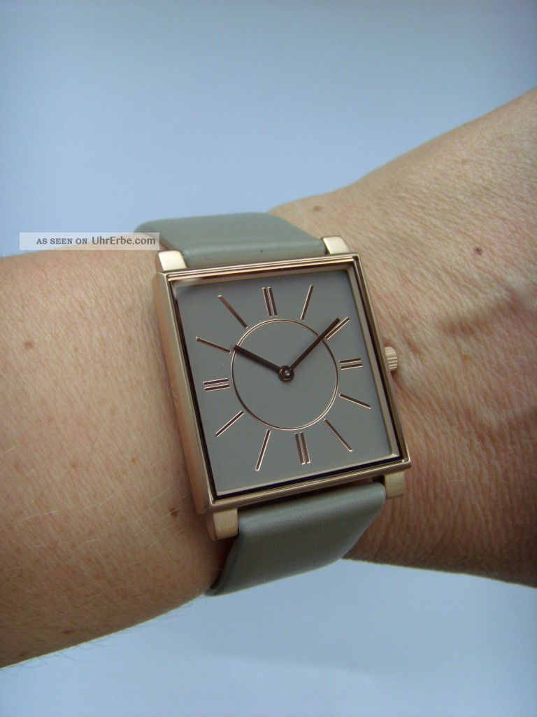 Damen Uhr Danish Design 3320192 Iv17q891 Eckiges Gehäuse Dänisches Design Rosé Armbanduhren Bild