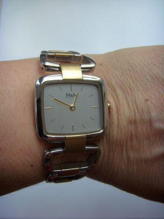 M&m Germany Uhr Damenuhr M11882 - 162 Bicolor Lagune Zart Und Leicht Am Handgelenk Bild