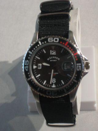 HÄusser Sport Discovery - Armbanduhr Unisex Uhr Nato Band Schwarz - H11 Bild