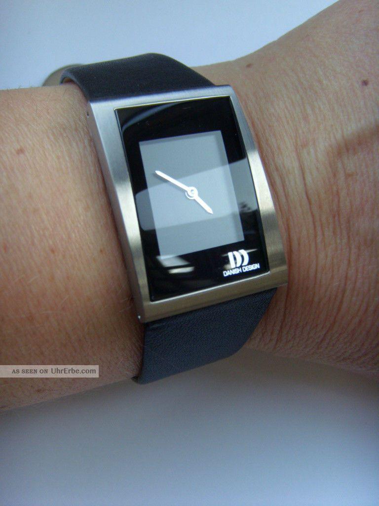 Damen Uhr Danish Design 3326496 Lederband Dänisches Design Titan Matt Iv13q836 Armbanduhren Bild