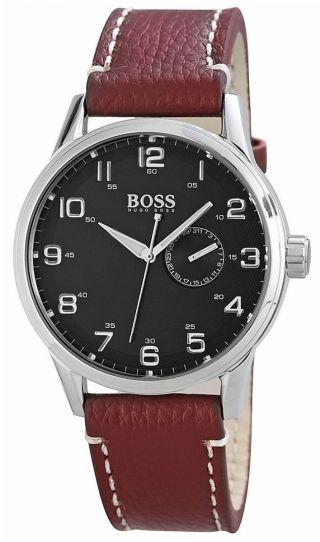 Hugo Boss Herrenuhr Mit Echtlederarmband 1512723 Herren Uhr Bild