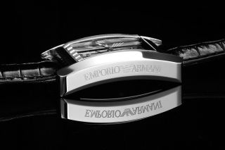 Armani Damenuhr Mit Echtlederarmband Ar0144 Damen Uhr Bild