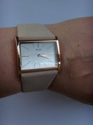 M&m Germany Uhr Damenuhr M11905 - 992 Best Basic Rose Lederband Taupe Bild