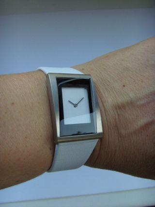 Damen Uhr Danish Design 3326526 Lederband Dänisches Design Titan Matt Iv12q836 Bild