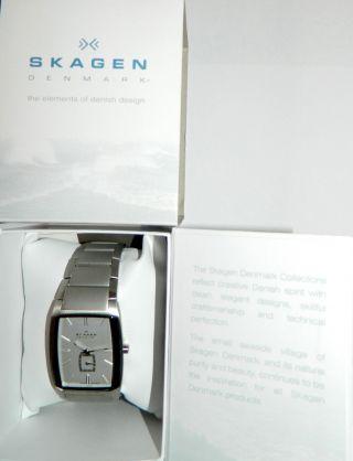 Skagen Armbanduhr Analog Quarz Edelstahl,  Wunder Schöne Uhr Denmark Black Label Bild