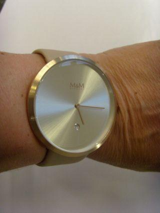 M&m Germany Uhr Damenuhr M11881 - 992 Jumbo Big Time Rosé Taupe Mit Datum Bild
