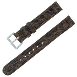 Movado - 12mm Braunem Leder - Damen Uhr Band Bild