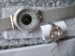 Da - Armbanduhr,  Mit Pass.  Ring,  Silberfarben,  Modeschmuck,  Noname,  Unbenutzt Bild