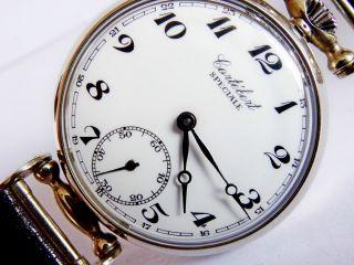 Einzelstück Cortebert Swiss Antike Art Deco Armbanduhr Cal.  616 Bild