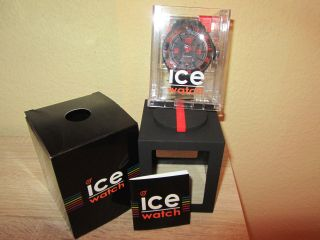 Ice - Watch Extra Big Ice - Surf Herren Uhr Dive Schwarz/ Rot Di.  Br.  Xb.  R.  11 Bild