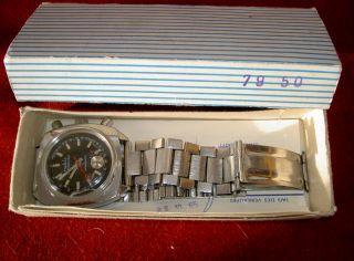 Ruhla Armbanduhr In Originaler Verpackung,  Mit Edelstahlarmband,  Made In Ddr Bild