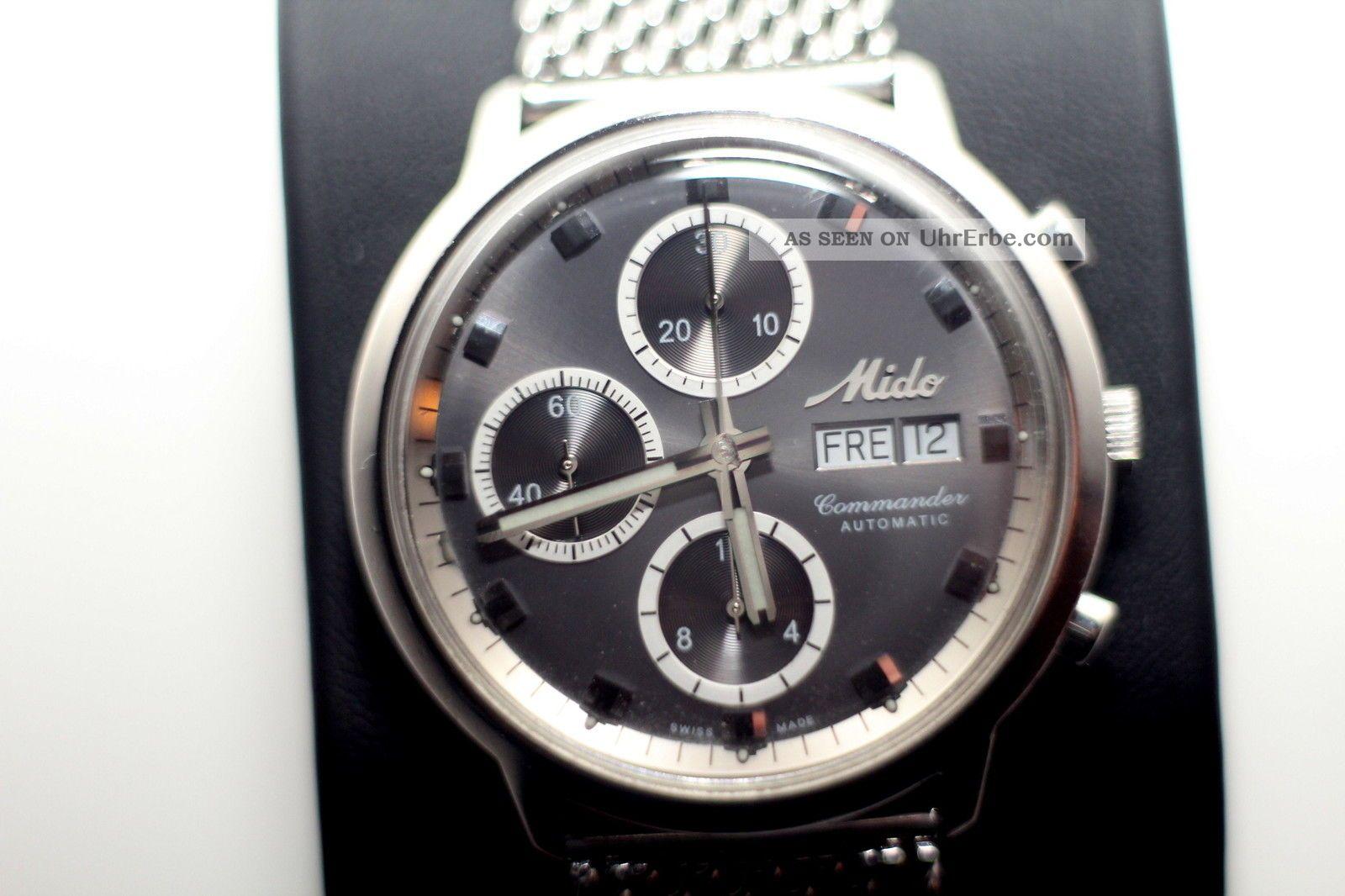 Mido Commander Automatic - Chronograph Valjoux 7750 Armbanduhren Bild