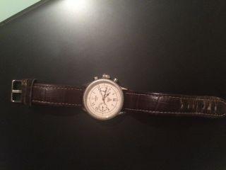 Chronograph Junkers F13 1919 Mechanische Uhr Mit Glasboden Safirglas Edelstahl Bild