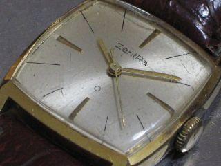Zentra O Herren - Armbanduhr Handaufzug Goldenes Blatt Vergoldet Kal.  Bifora 107 Bild