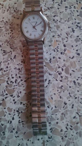 Alte Tissot Seastar Damen Armbanduhr Mit Vergoldetem Edelstahlarmband. Bild