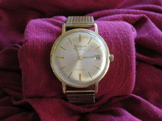 Armbanduhr Ddr Gub Glashütte Spezimatic Mit Datumsanzeige Bild