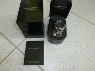 Emporio Armani Ar1421 Keramik Herren - Armbanduhr Xl Quarz Chronograph & Ovp Bild