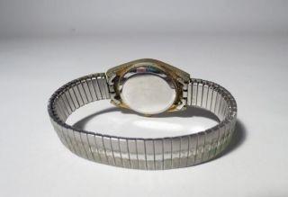 Vintage Uhr Image Quartz Armbanduhr Gold/silber Für Damen Mit Zugband 70/80er Bild