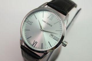 Time Force Herren Armbanduhr Tf4079m02 Uvp 79€ All Edelstahl Lederband Bild