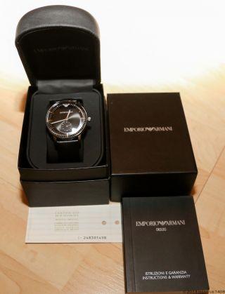 Emporio Armani Ar - 0382 Herren Armbanduhr Neuzustand Wegen Auflösung Der Sammlung Bild