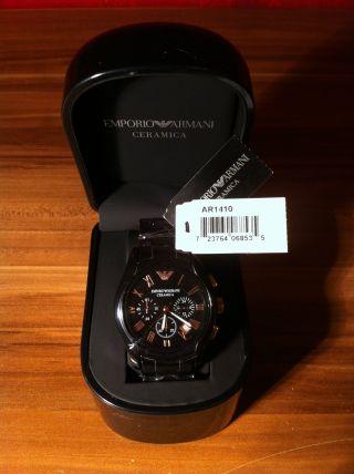 Armani Herren - Armbanduhr Chronograph Keramik Modell: Ar1410 Bild